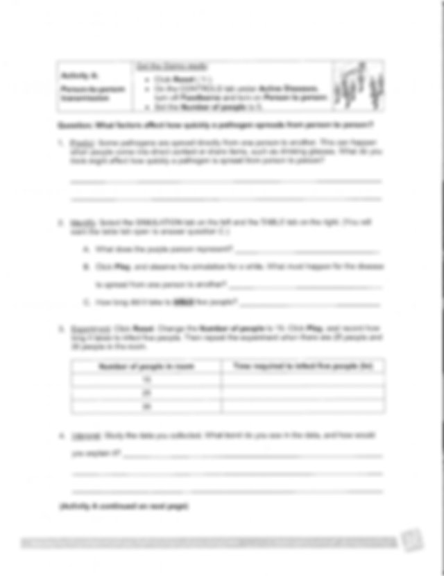 Disease Spread Gizmo student worksheet.pdf - | Course Hero