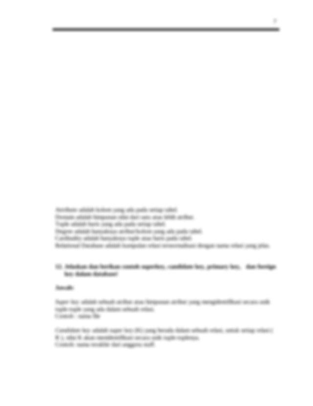 penyelesaian_psbd.doc - 1 Pengantar Sistem Basis Data ...