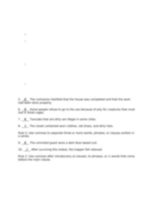 Using Commas - Practice 2 Answer Key.docx - Using Commas ...