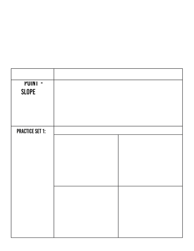 Unit 3 - Point Slope Form Notes.docx - Name Date Topic ...