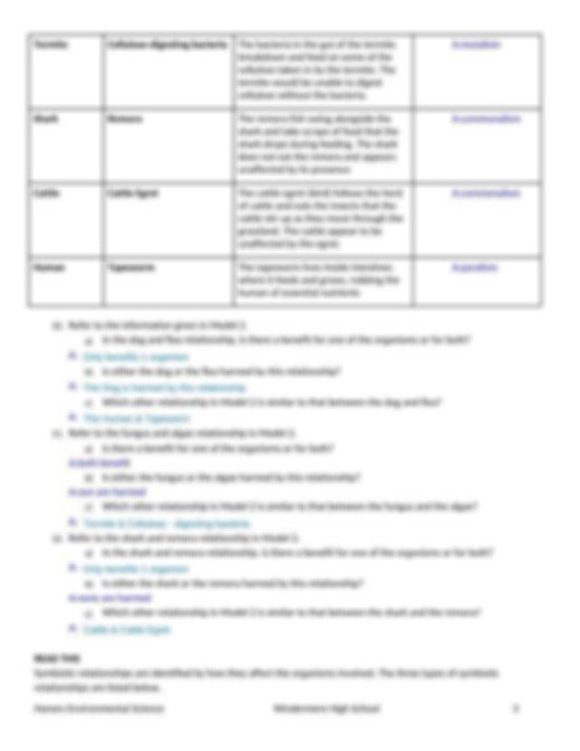 Ecological Relationships Worksheet.docx - Ecological ...