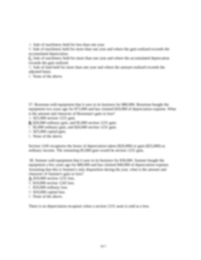 Which of the following is not a section 1245 asset if held ...