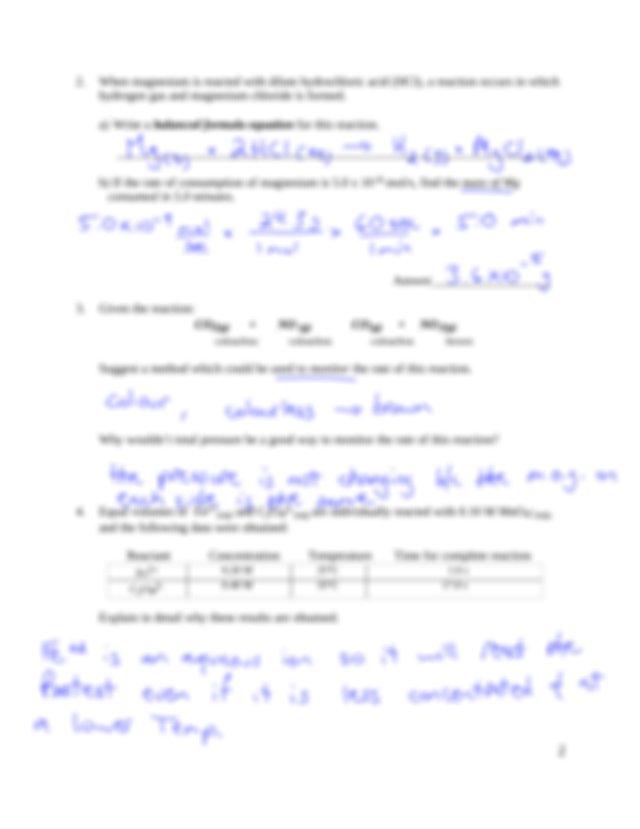 4. Worksheet 1_1 new Key - Chemistry 12 Unit 1.1 1.4 ...