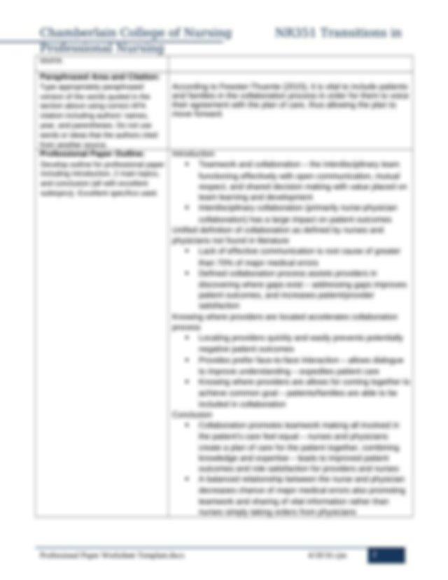 Professionalism in Nursing - Free Essay Example | blogger.com