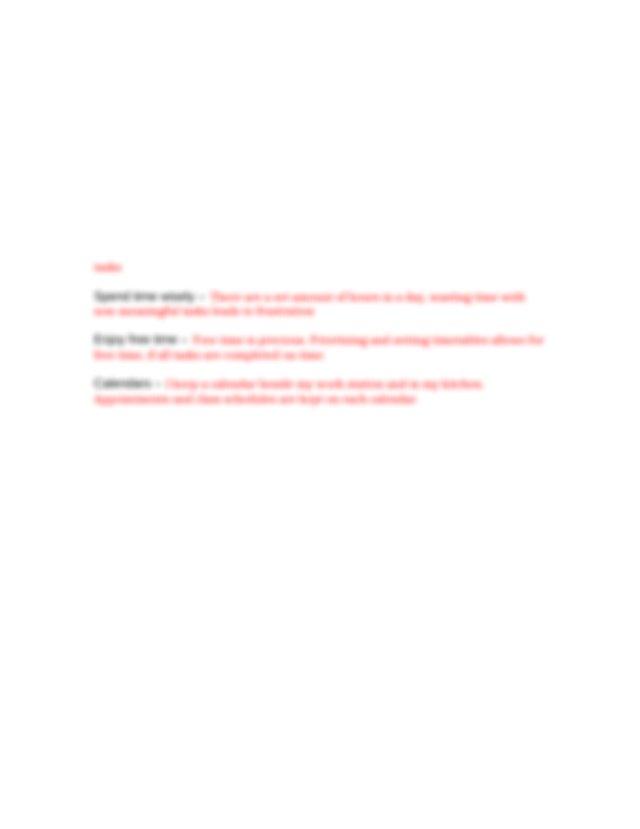 7 organizational skills assessment