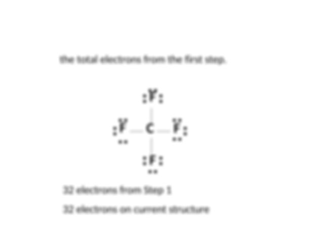Lewis_Structure,CF4 - 1 Total the number of valence ...