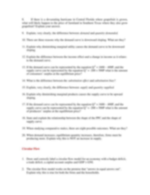 Exam Final Questions.pdf - ECON 1250 PRINCIPLES OF ...