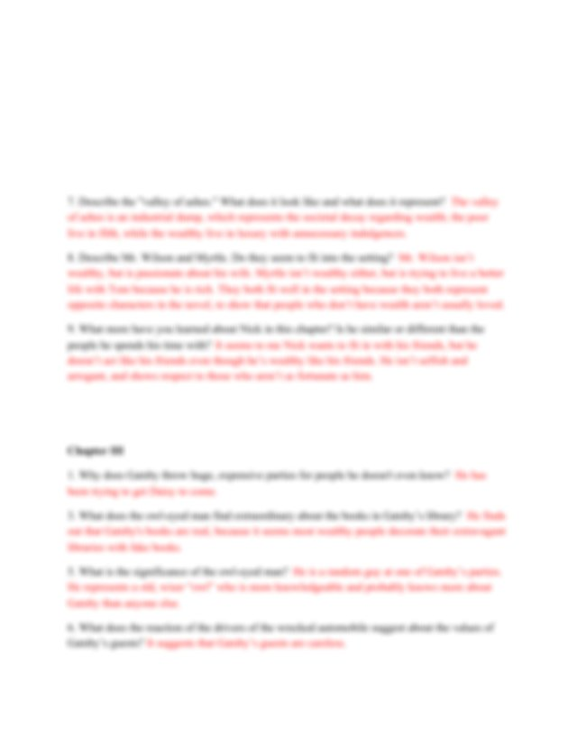 DQs - Great Gatsby.pdf - The Great Gatsby Chapter I 1 How