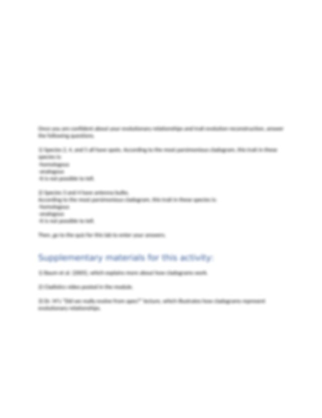 Cladistics Lab.docx - Cladistics Lab In this document you ...