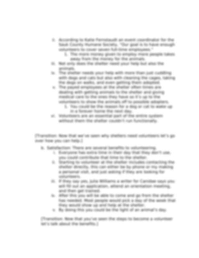 Persuasive Speech outline.docx - Speech Outline Speakers