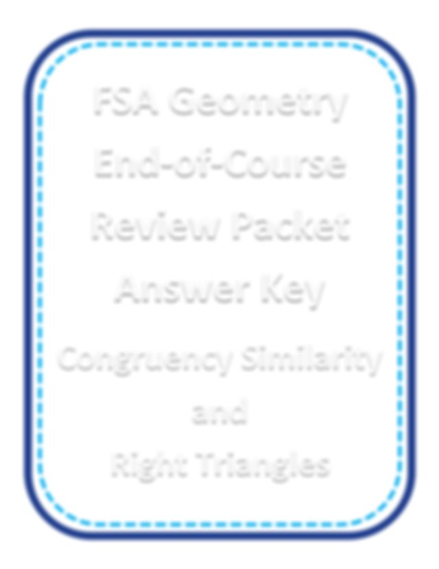 EOC (1).pdf - FSA Geometry End-of-Course Review Packet ...