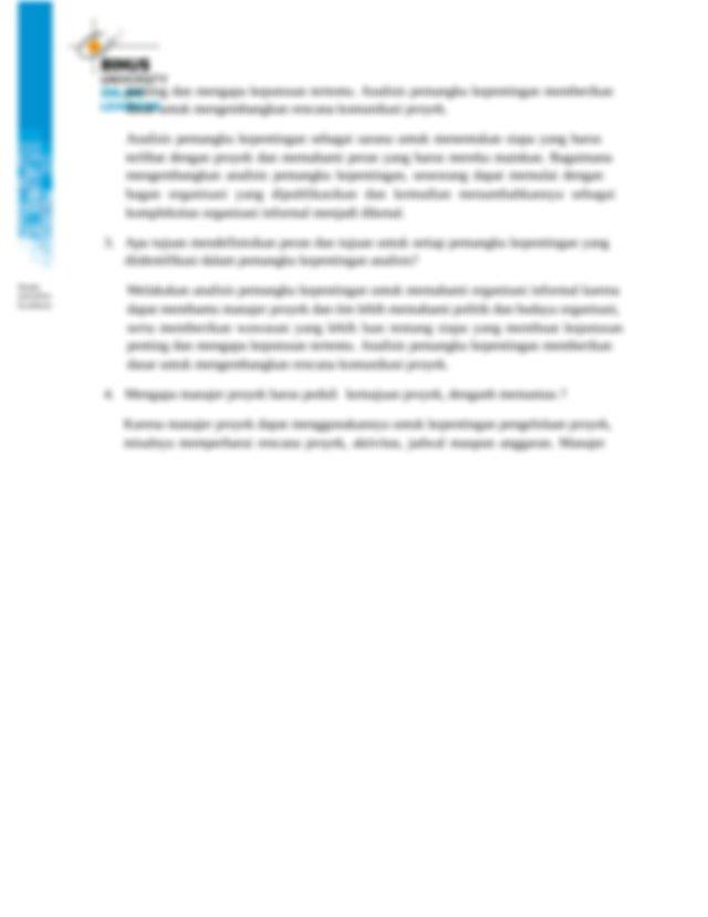 Laporan manajer proyek dapat bersifat formal atau informal ...