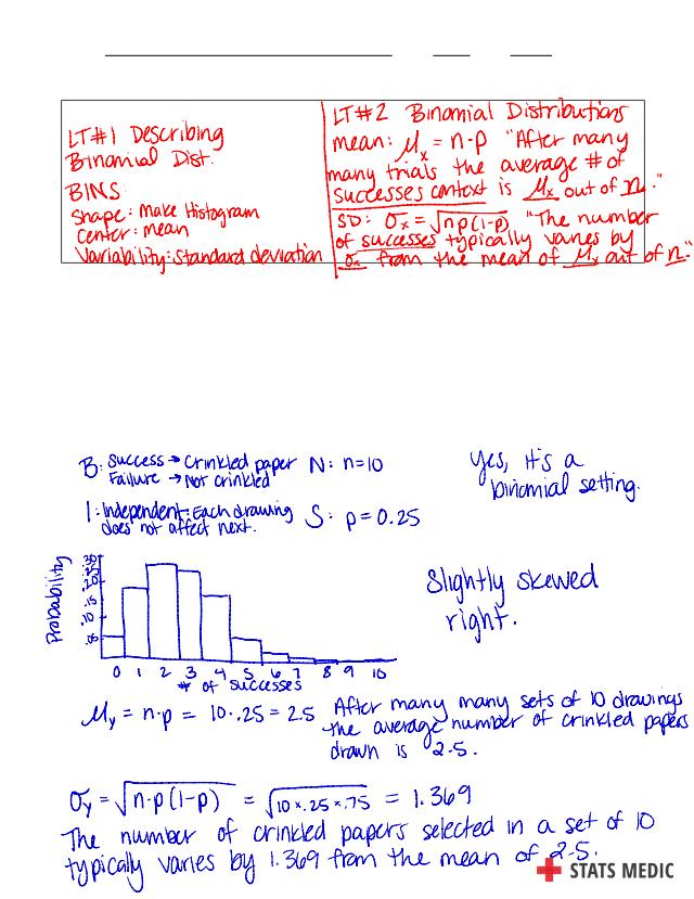 KEY 6.3 - Binomial Distributions Day 2 Answer Key (2).pdf ...