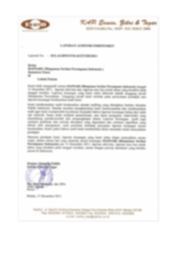 Pengauditan Ii Laporan Auditor Independen Opini Dan Alasan Pengauditan Ii Laporan Auditor Independen Oleh Nama Fahmi Nur Alfiyan Nim 1400012240 Course Hero