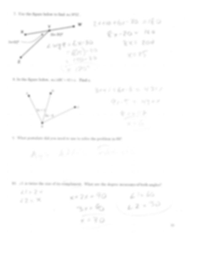 free-geometry-worksheets-unit1-answers - gay Top'c 10 11 1 ...