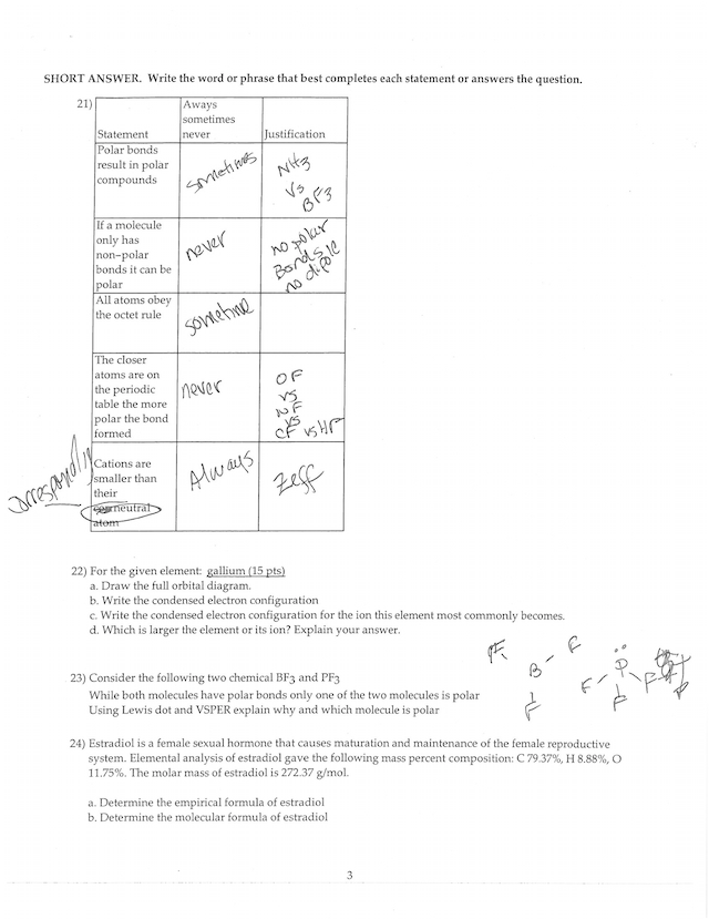 answer keys for summer practice exams 4-7.pdf - CHM 1045 ...