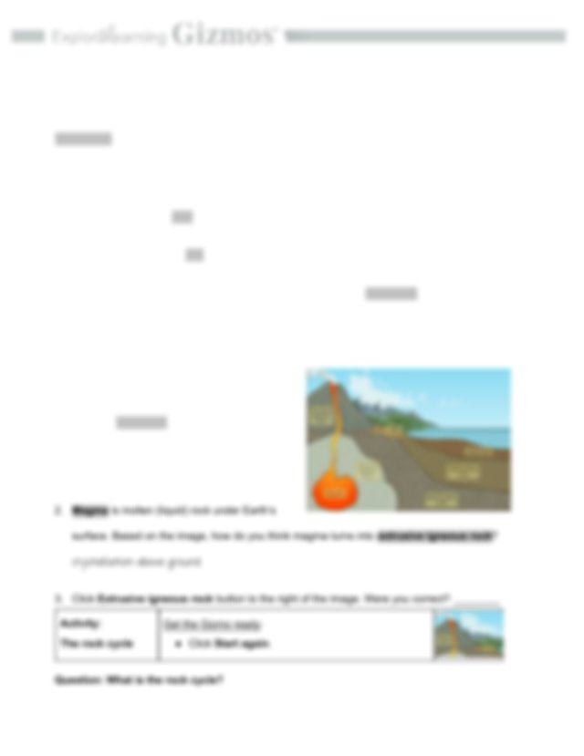 Copy of 2.6 Rock Cycle SE.pdf - Name:Meijoi Murrell Date ...