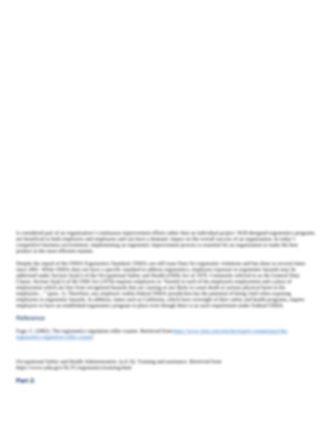 ergonomics page 1.docx - As a graduate of Columbia ...