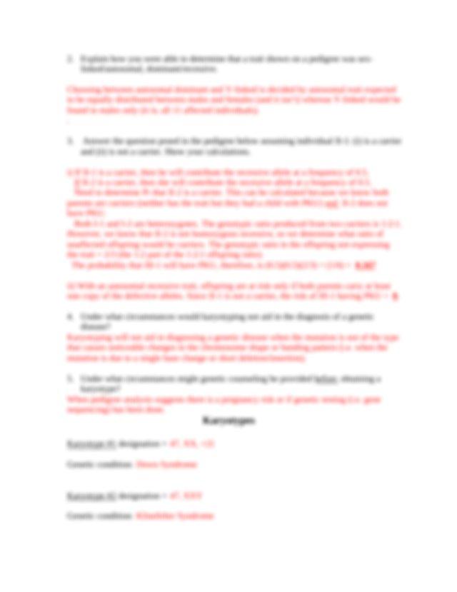 Lab+#4+-+Human+Genetics+Answer+Sheet+Key.docx - ANSWER ...
