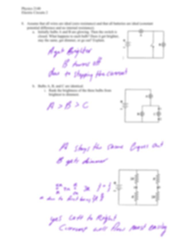 Ii Suppose A Wire Is Connected Between Points 1 And 2 What