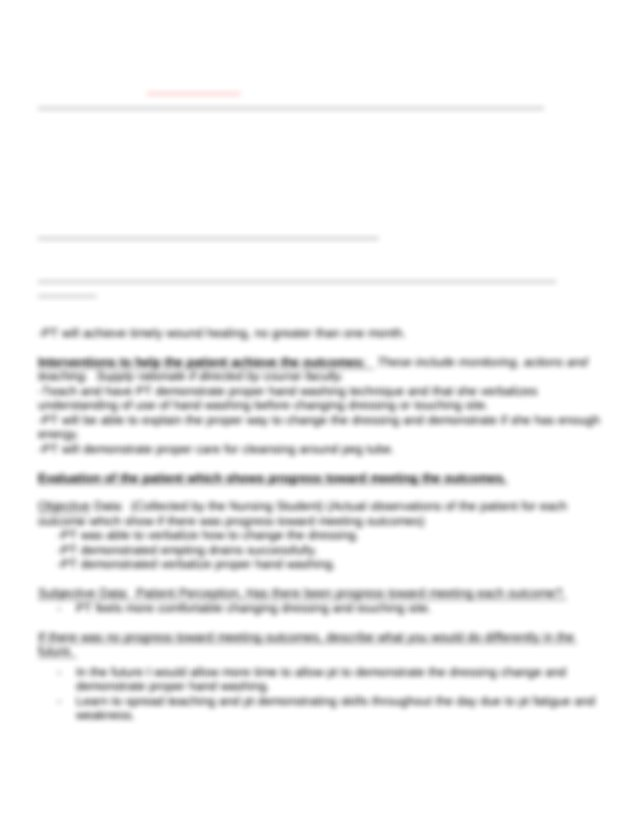 Nursing Care Plan (Risk for Infection #2) - Malone ...
