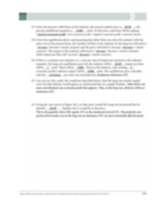 3 Microeconomics LESSON 3 ACTIVITY 28 Answer Key UNIT 170 ...