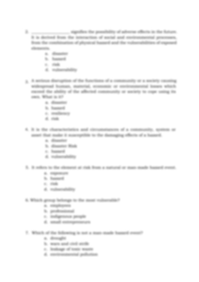 Answer Key This contains answers to all activities in the ...