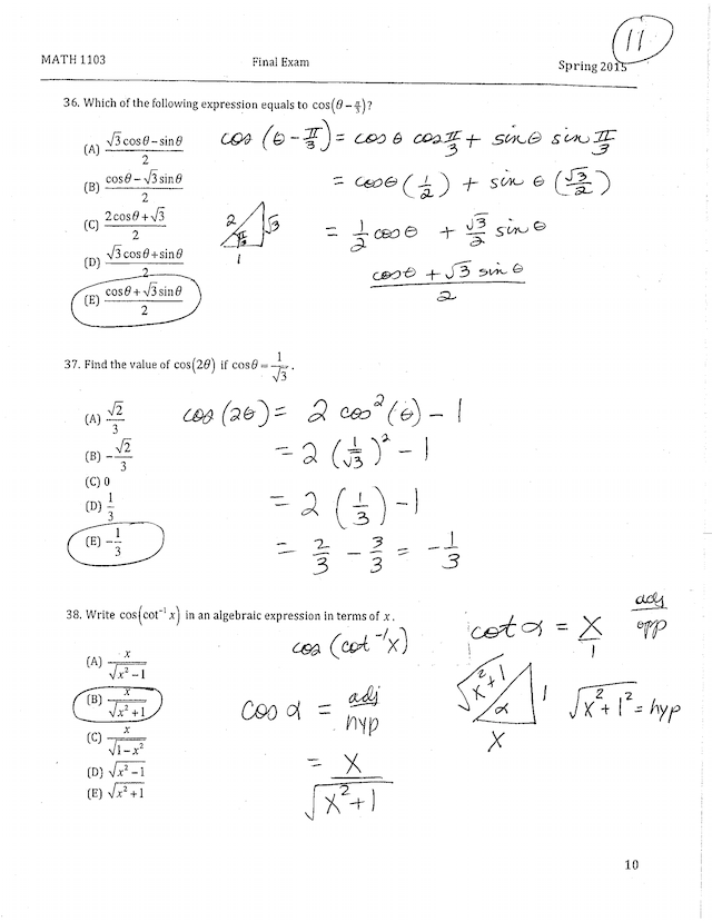 Math 1103 Spring 2015 Final Exam Answers worked out.pdf ...