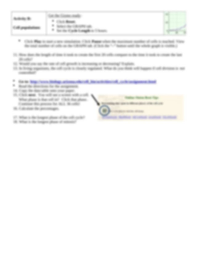 Cell Division GIZMO class set.doc - Cell Division GIZMO ...