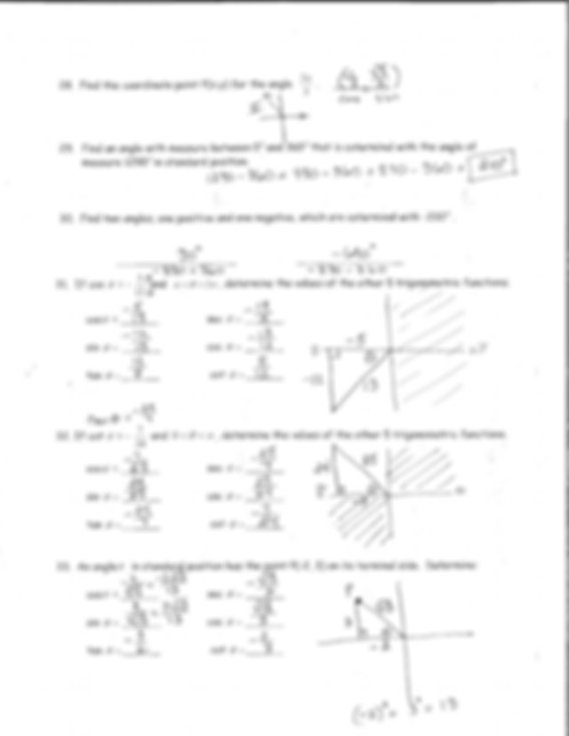 Key 4.1-4.3 Test Review - Right Triangle Trig and Unit ...