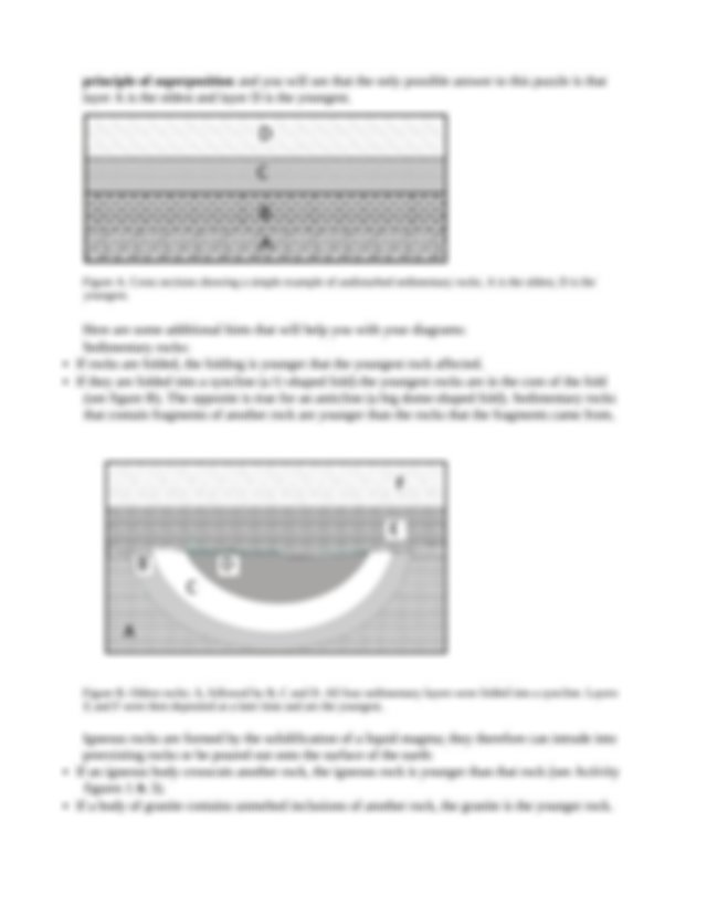 Relative Age Dating Lab Directions and Worksheet.docx ...