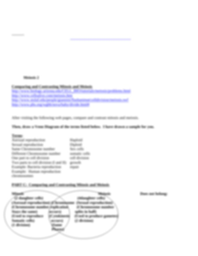 Meiosis Webquest Worksheet.doc   Domenic Ghiorso Meiosis ...