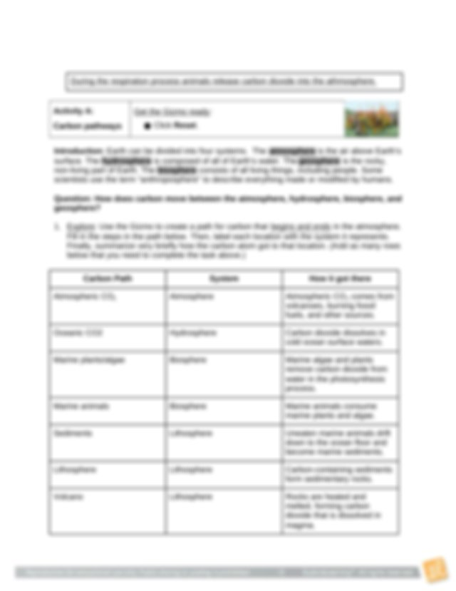 P6-Colossi-Carbon Cycle Gizmo SE.docx - Student ...