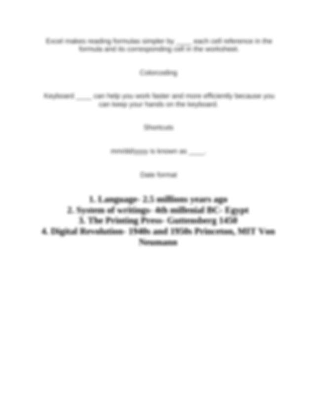 Quia - Excel Vocab 1