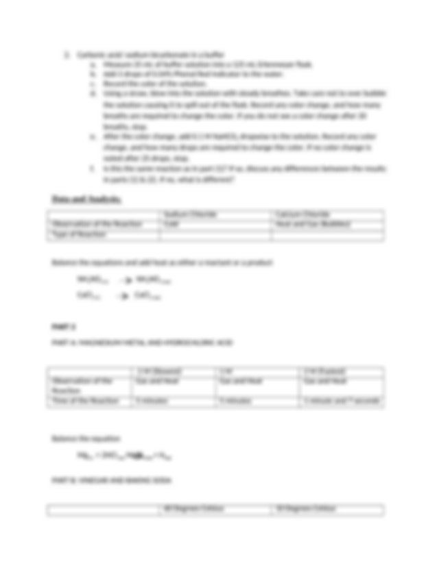 Reaction Rates and Equilibrium.docx - Reaction Rates and ...