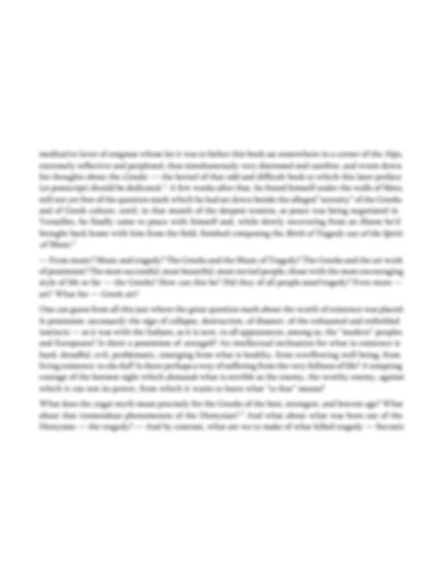 [PDF] The Birth of Tragedy Book by Friedrich Nietzsche ...