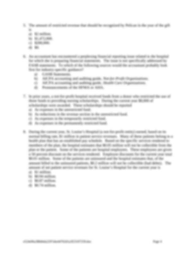 ACCT 5520 Chapter 14 - Chapter 14 Health Care Providers ...