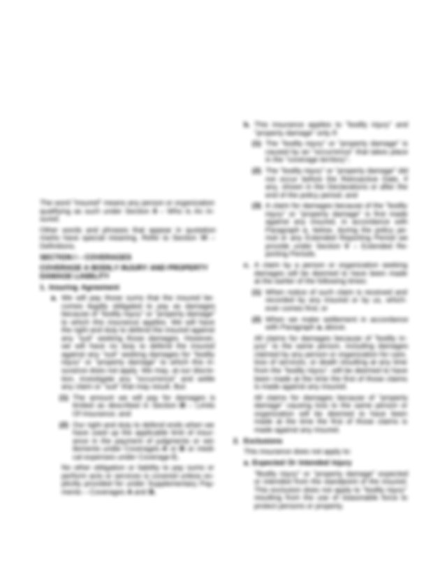 Declarations.pdf - POLICY NUMBER COMMERCIAL GENERAL ...
