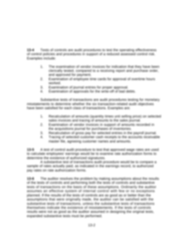 Auditing Chapter 13 Solution Manual - Chapter 13 Overall ...