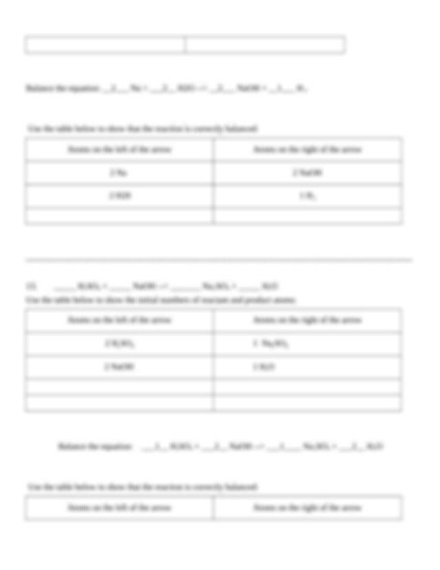 Balancing Chemical Equations Applet - Tessshebaylo