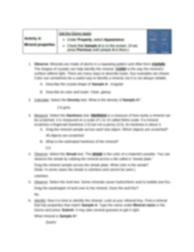 2.3 Mineral Identification SE.docx - Name Date Student ...