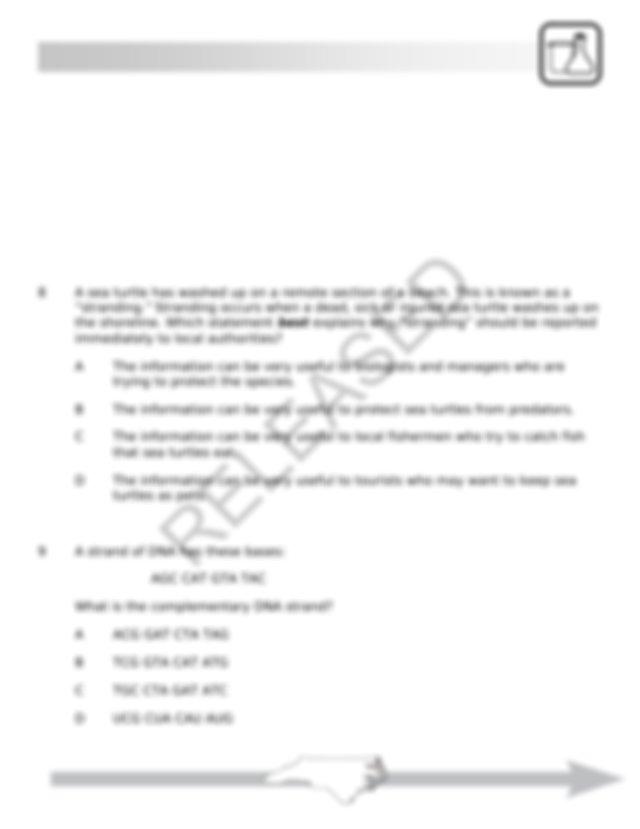Biology EOC Practice Test - North Carolina - REVISED ...