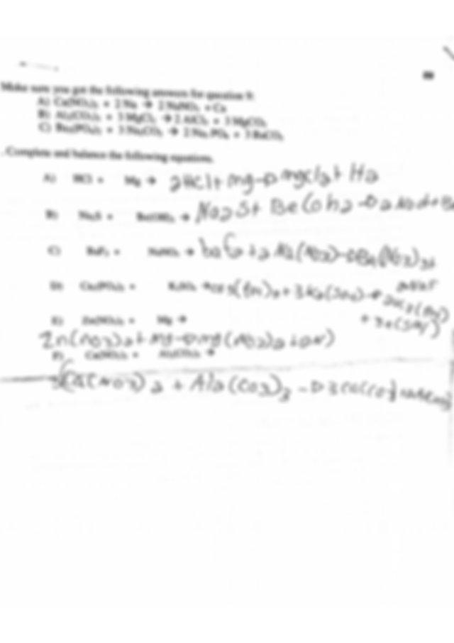 Chemistry homework: balancing equations worksheet ...