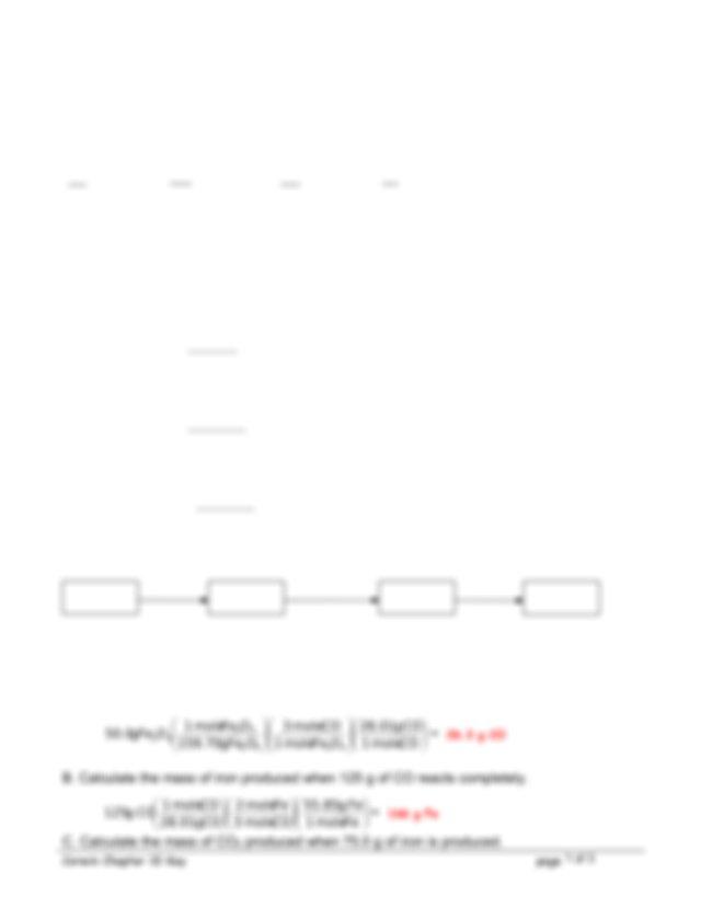 Chapter 10 Homework Key - CHAPTER 10 STOICHIOMETRY ANSWERS ...