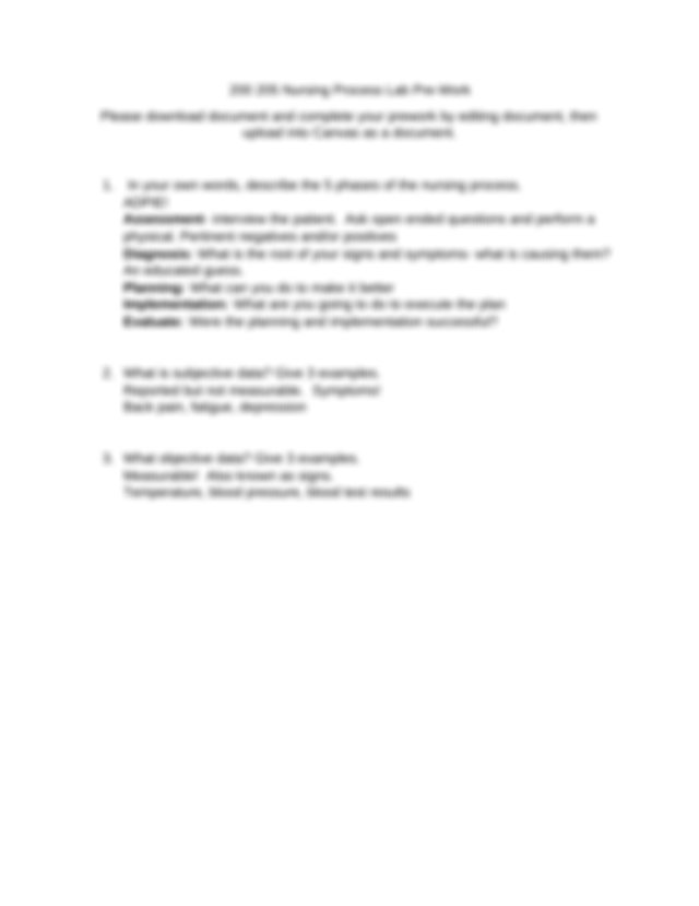 List 3 NANDA approved nursing diagnosis found in Appendix ...