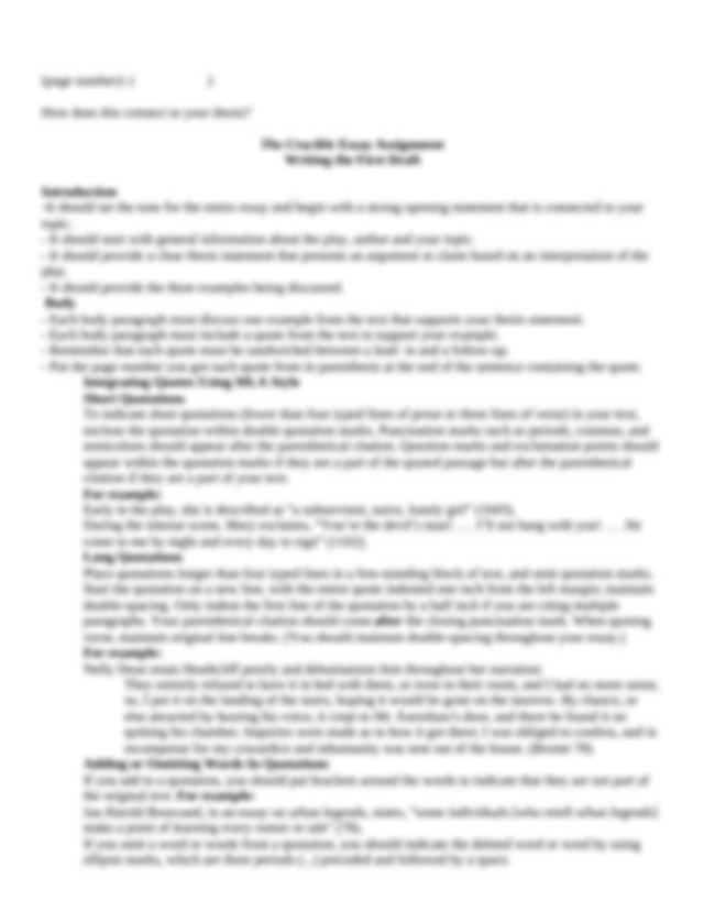 Middle school research paper checkoff list
