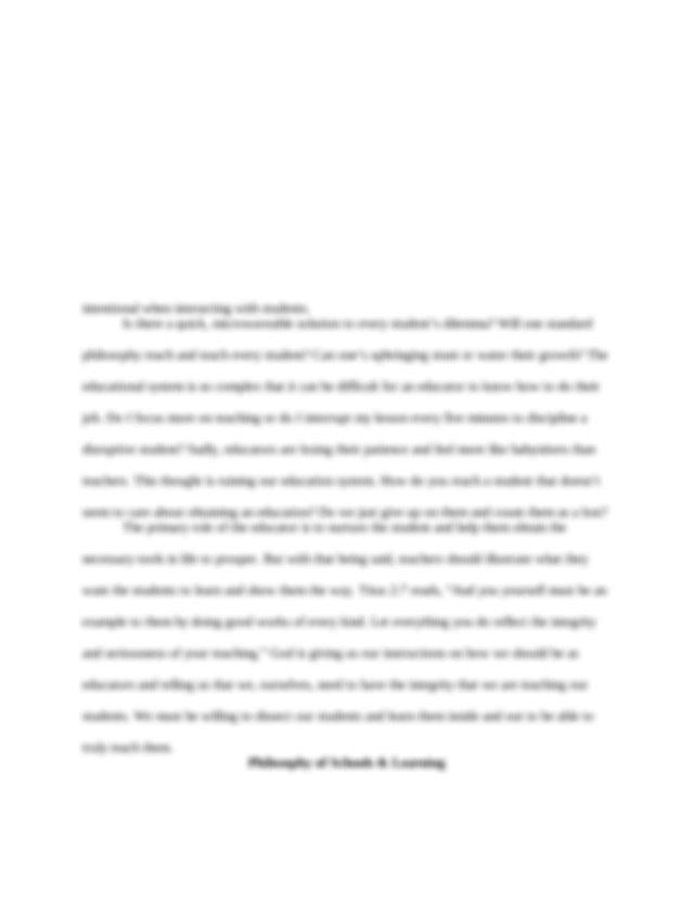Essay on faith unity discipline