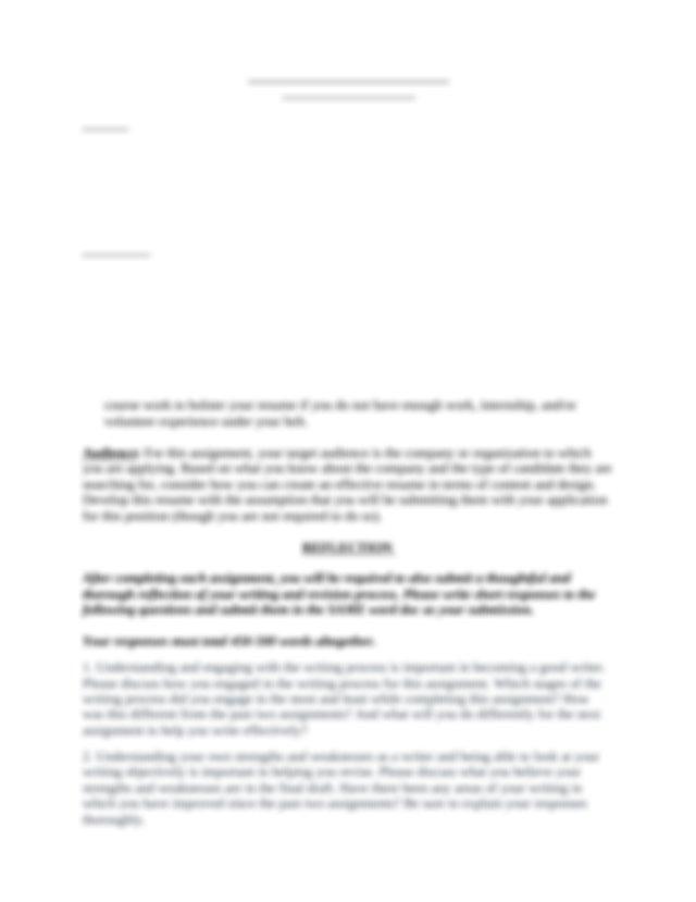Uwp 104a Assingment 3 Resume 2 Docx Padda Uwp104a