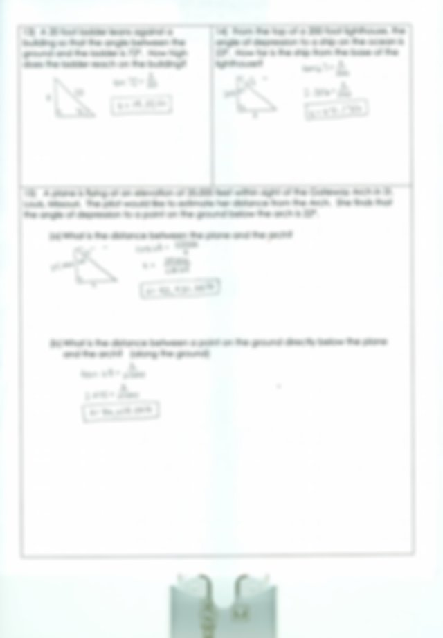 Worksheet E Key.pdf - Keu Pre-Calculus Unit 3 Right ...
