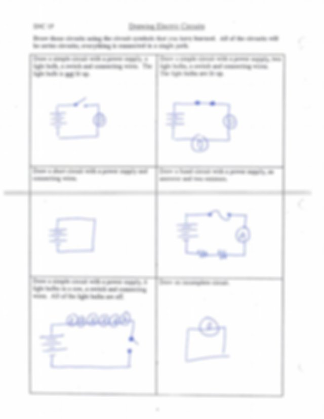 10   Worksheet types of circuits, symbols and drawing ...